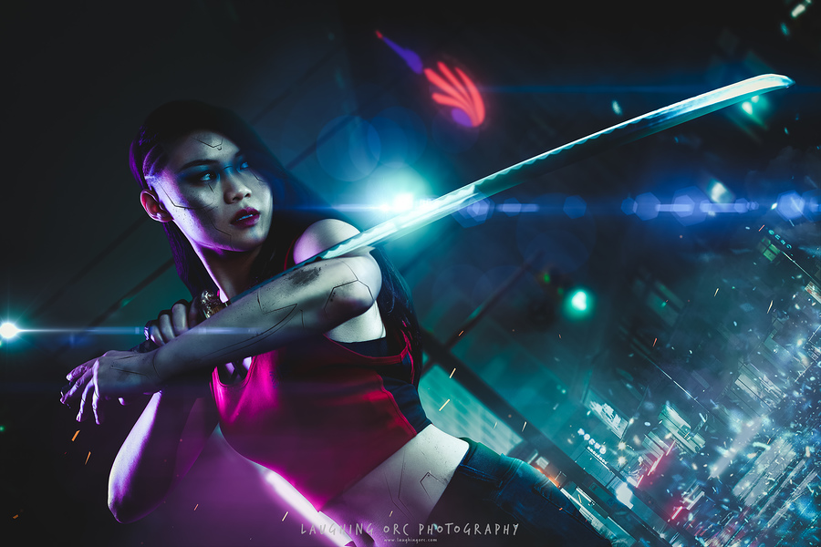 street samurai / Photography by Laughing Orc, Model CarnivoreCain / Uploaded 21st July 2019 @ 03:37 PM