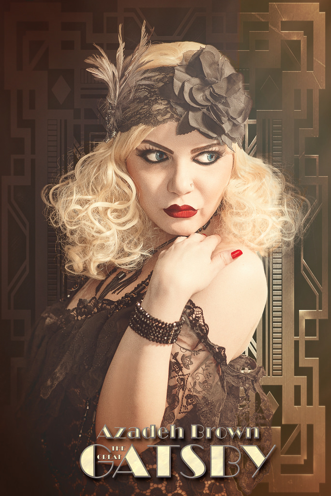 """""""The Great Gatsby"""" / Model Azadeh, Makeup by Azadeh, Post processing by sherring, Hair styling by Azadeh / Uploaded 8th June 2016 @ 09:12 AM"""