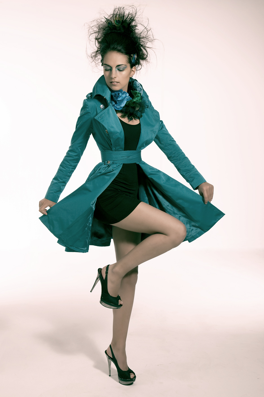 Peacock themed creative shoot