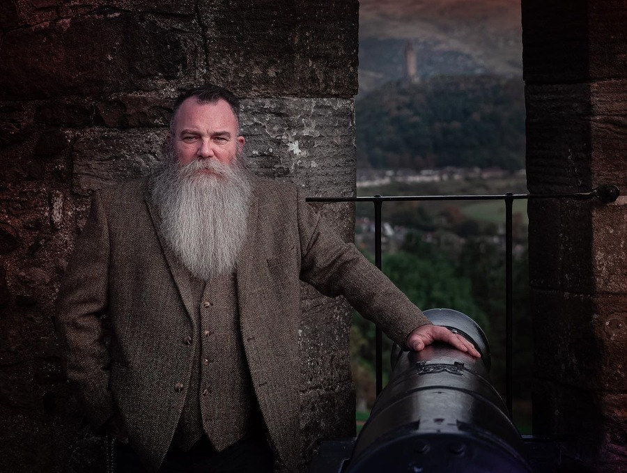 Stirling Castle walls with Wallace Monument in the background  / Photography by scott nicoll, Model Silverbeard1 / Uploaded 13th October 2021 @ 12:24 PM