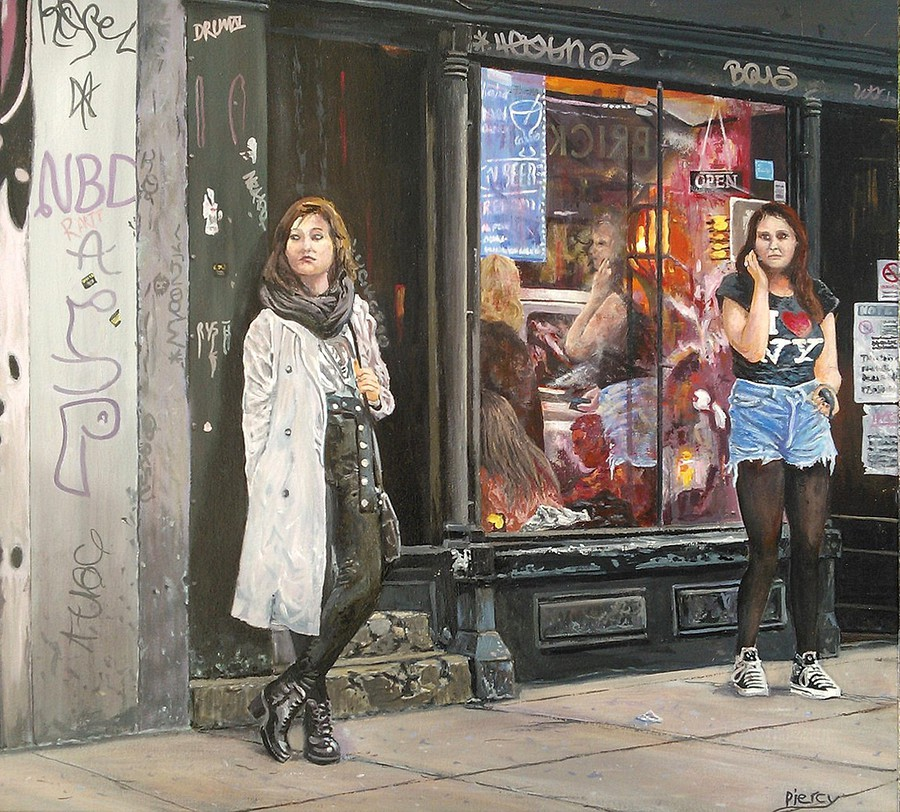 Streets of London - Brick Lane / Artwork by Martin Piercy / Uploaded 19th June 2014 @ 10:00 PM