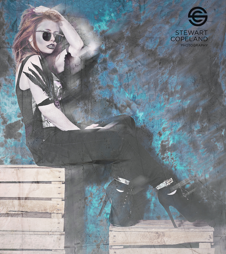 Feelin' Blue / Photography by Stewart Copeland, Model Rachelle Rogue / Uploaded 31st October 2016 @ 05:54 PM
