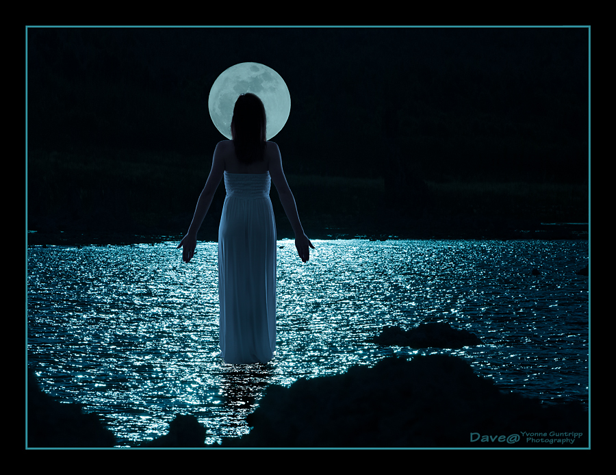 Lunar Levitation - She Walks On Water / Photography by Dave@YGP, Taken at Dave@YGP / Uploaded 9th November 2015 @ 10:19 AM