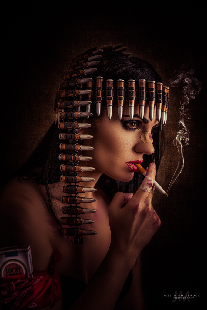The Smoking Bandit / Photography by Jess Middlebrook, Model Lilly Von Pink, Makeup by The velvet unicorn / Uploaded 30th October 2017 @ 02:24 PM
