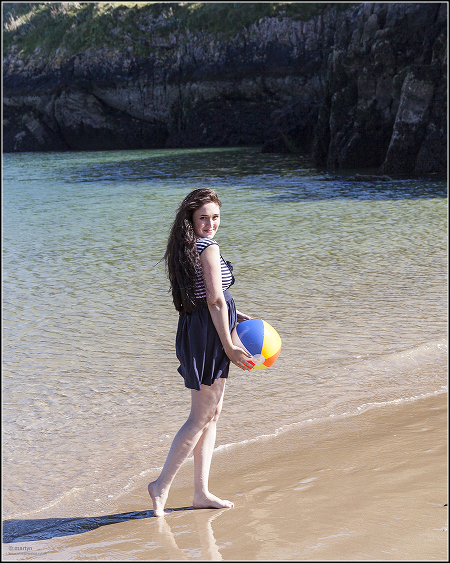 At Castle Beach Tenby / Photography by martyn: ImageWales, Model Leah_Axl / Uploaded 27th June 2019 @ 10:26 AM