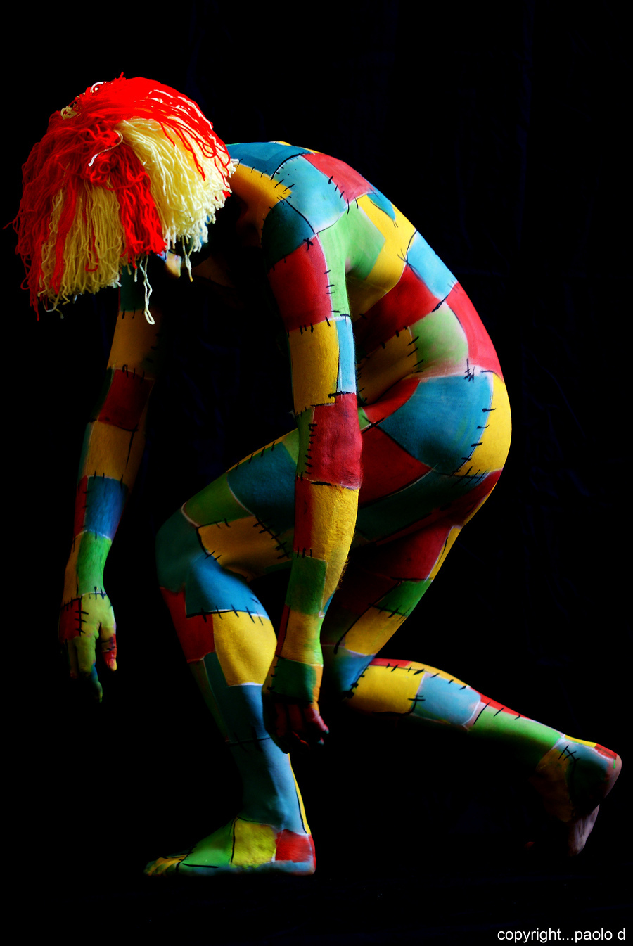 Bodypaint Trilogy part two ( patchwork landscape) No Strings / Model Bobby / Uploaded 9th February 2012 @ 04:25 AM