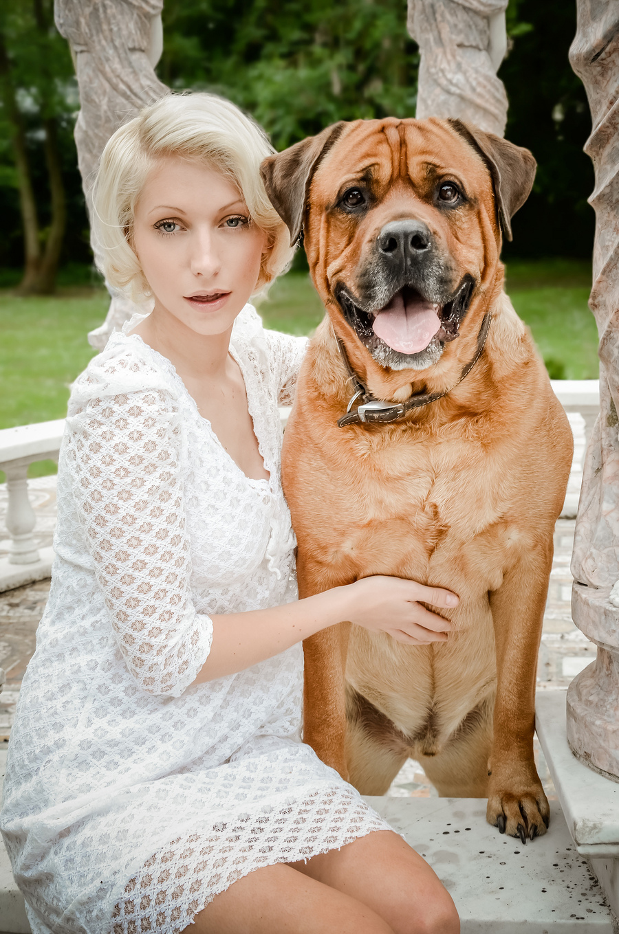 Beautiful girl and dog / Photography by Sophie Merlo / Uploaded 7th July 2014 @ 09:08 PM