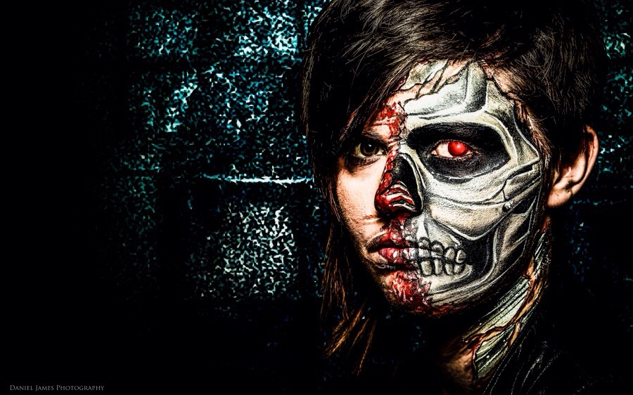 Terminator style face paint  / Artwork by Style king / Uploaded 1st June 2015 @ 12:46 PM