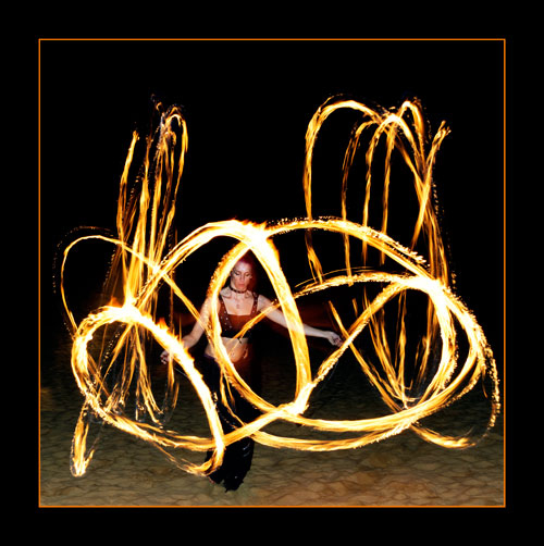 Fire Poi / Photography by Jerome Razoir, Post processing by Jerome Razoir / Uploaded 6th April 2014 @ 01:19 PM