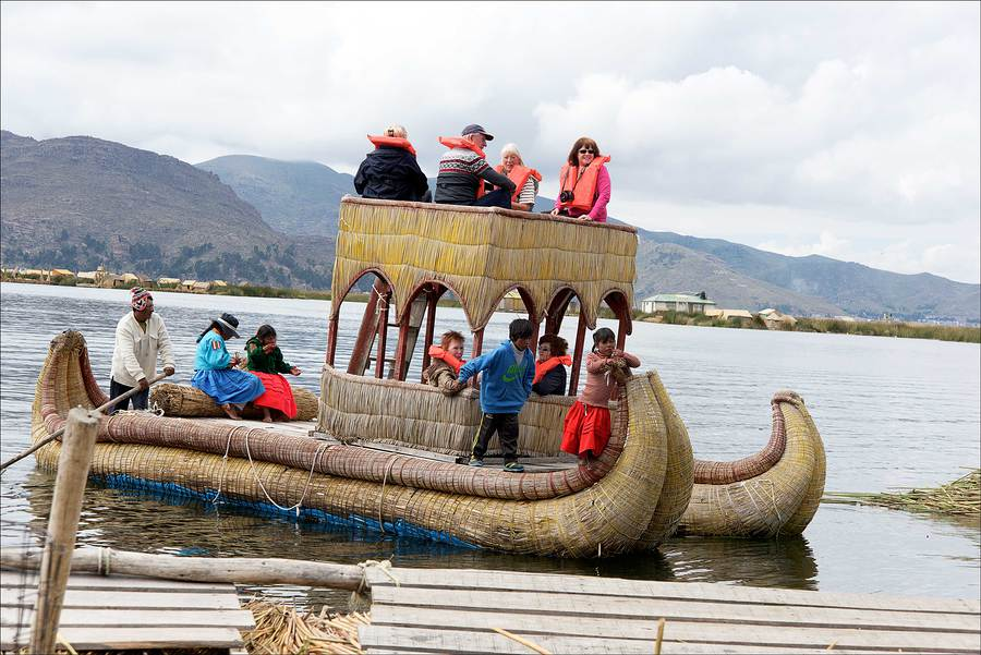 Reed boat, Lake Titicaca. / Photography by Jerome Razoir / Uploaded 5th June 2015 @ 04:25 PM