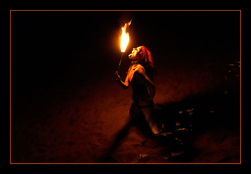 Fire Poi / Photography by Jerome Razoir, Post processing by Jerome Razoir / Uploaded 6th April 2014 @ 01:22 PM