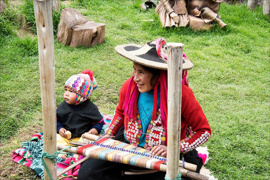 Traditional hand-loom weaving, Peru. / Photography by Jerome Razoir / Uploaded 5th June 2015 @ 07:31 PM