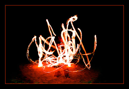 Fire Poi / Photography by Jerome Razoir, Post processing by Jerome Razoir / Uploaded 6th April 2014 @ 01:25 PM