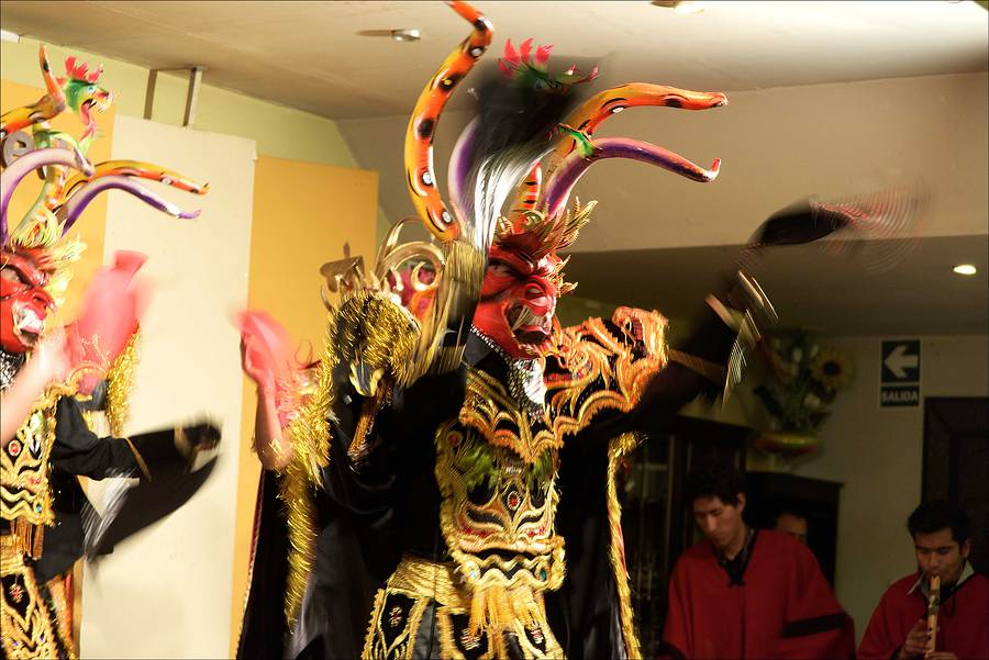 Traditional dancers, cabaret in Cusco, Peru.  / Photography by Jerome Razoir / Uploaded 5th June 2015 @ 04:32 PM