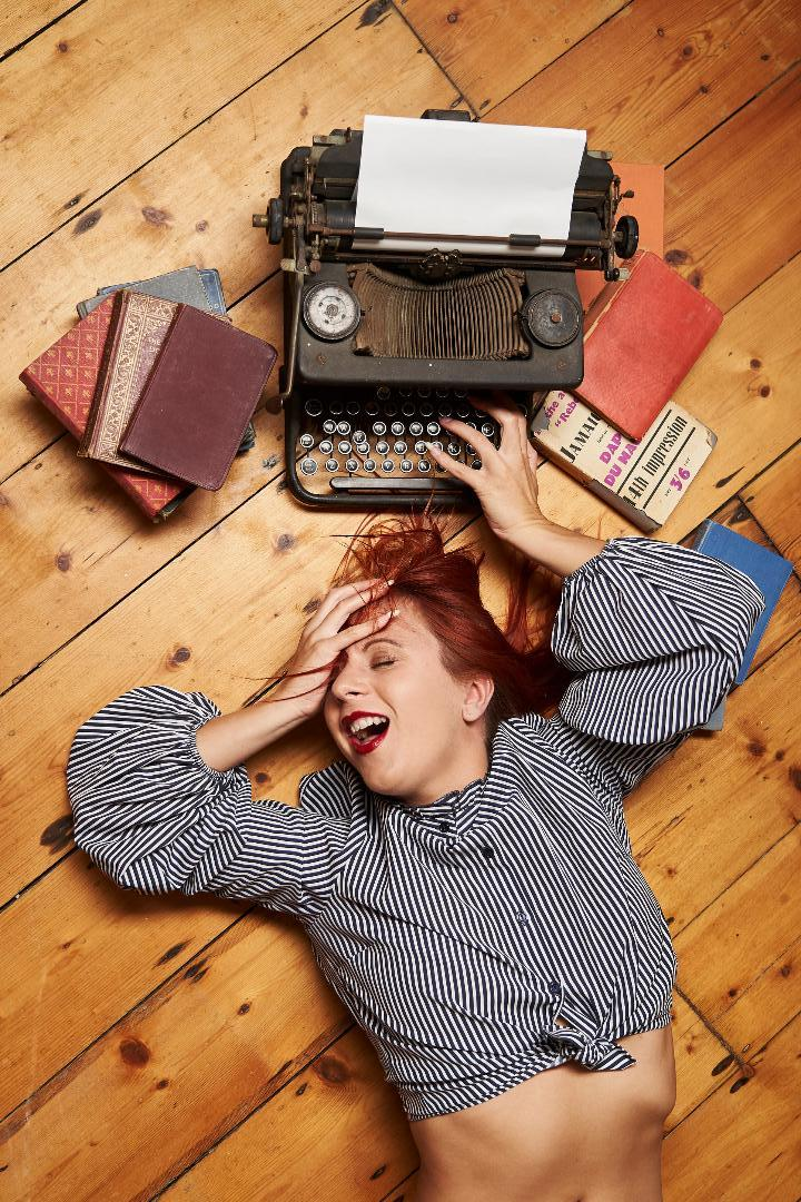 The crazy typist / Photography by Pixelated, Model Freya, Stylist Freya / Uploaded 15th September 2018 @ 06:10 PM