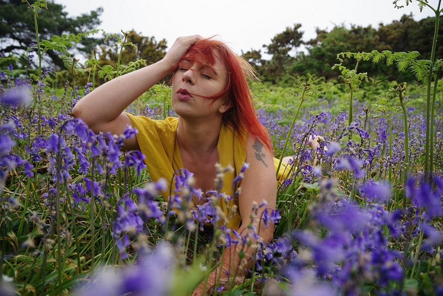 One with the bluebells / Photography by GBrodie1, Model Freya, Makeup by Freya, Stylist Freya / Uploaded 23rd June 2019 @ 08:44 PM