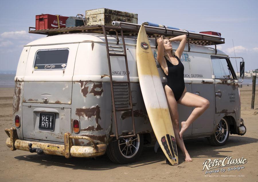 VW Surf Bus Shoot / Photography by gjp, Model Amalia, Designer RetroClassic / Uploaded 8th June 2020 @ 09:45 AM