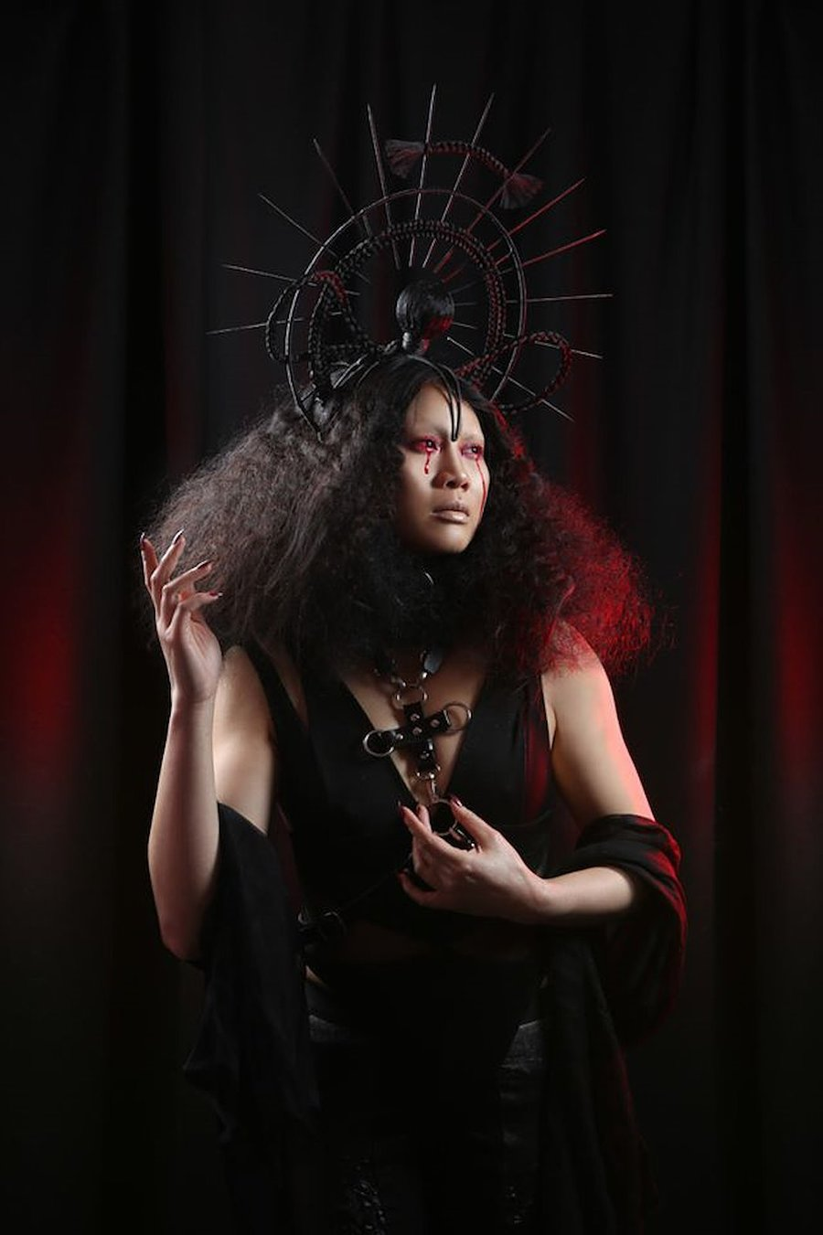 Mater Dolorosa / Model Cainivorous, Hair styling by Dbxhair / Uploaded 16th August 2020 @ 05:20 AM