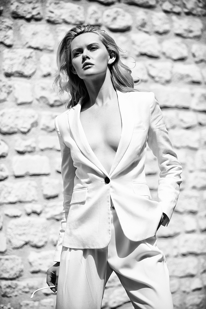 White Suit Paris / Photography by Adrian Crook, Model Carla Monaco / Uploaded 19th July 2014 @ 05:55 PM