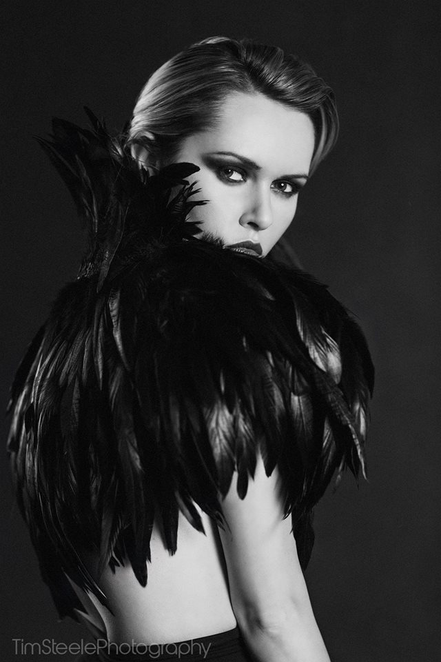 Dark Feathers / Photography by Tim Steele Photography, Model Carla Monaco / Uploaded 16th December 2014 @ 04:07 PM