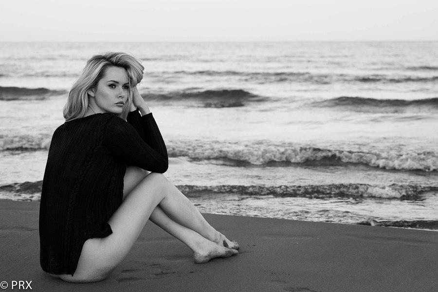 Black and White Beach  / Model Carla Monaco / Uploaded 3rd December 2014 @ 01:11 PM