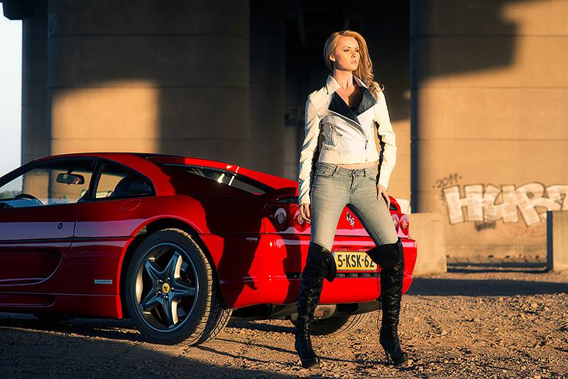 Monaco Vs Ferrari  / Model Carla Monaco / Uploaded 16th June 2014 @ 05:45 PM
