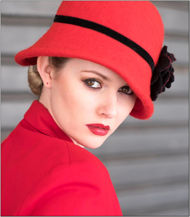 Red Hat in Venice / Model Carla Monaco, Stylist Faye Yerbury / Uploaded 20th June 2016 @ 09:28 AM