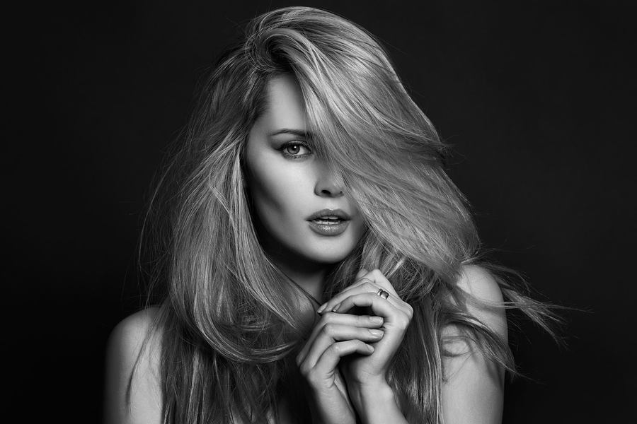 Hair over eye / Photography by Chris Hope, Model Carla Monaco, Makeup by Carla Monaco / Uploaded 4th July 2016 @ 04:11 PM