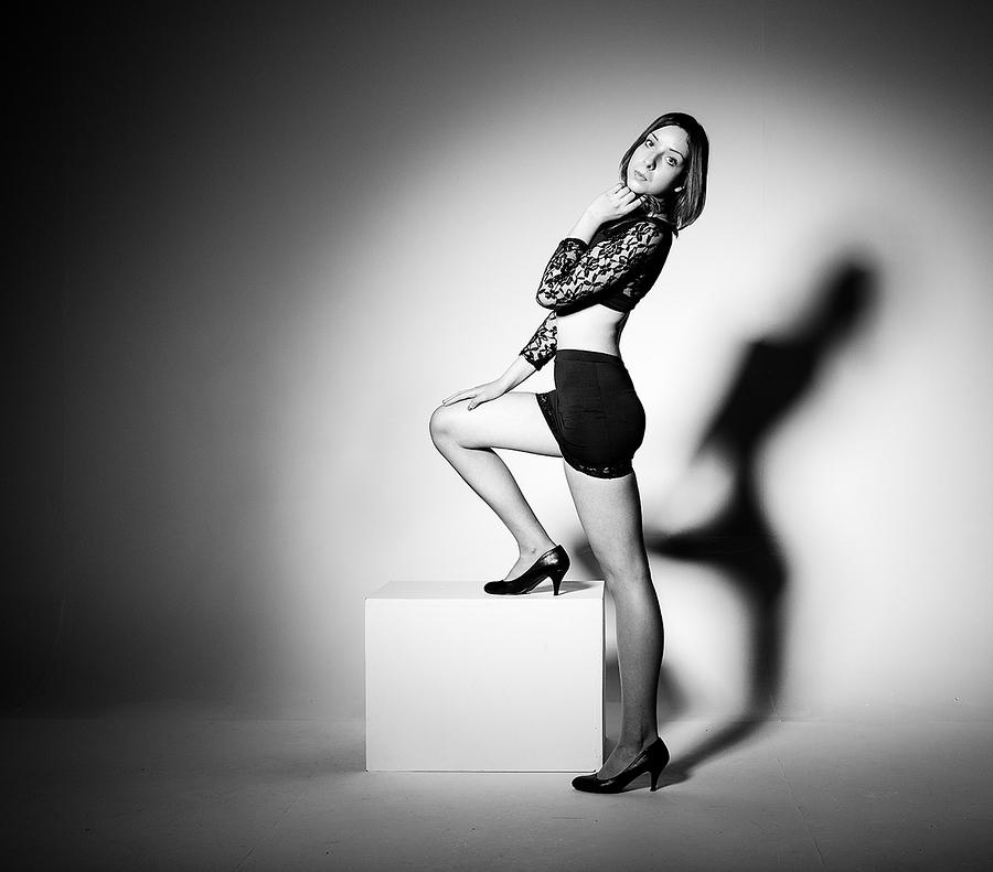 Me and my shadow / Photography by jakabi, Model Monika Wiatrowska, Post processing by jakabi, Taken at Art Asylum Reloaded Photo Studio / Uploaded 31st August 2016 @ 01:15 PM