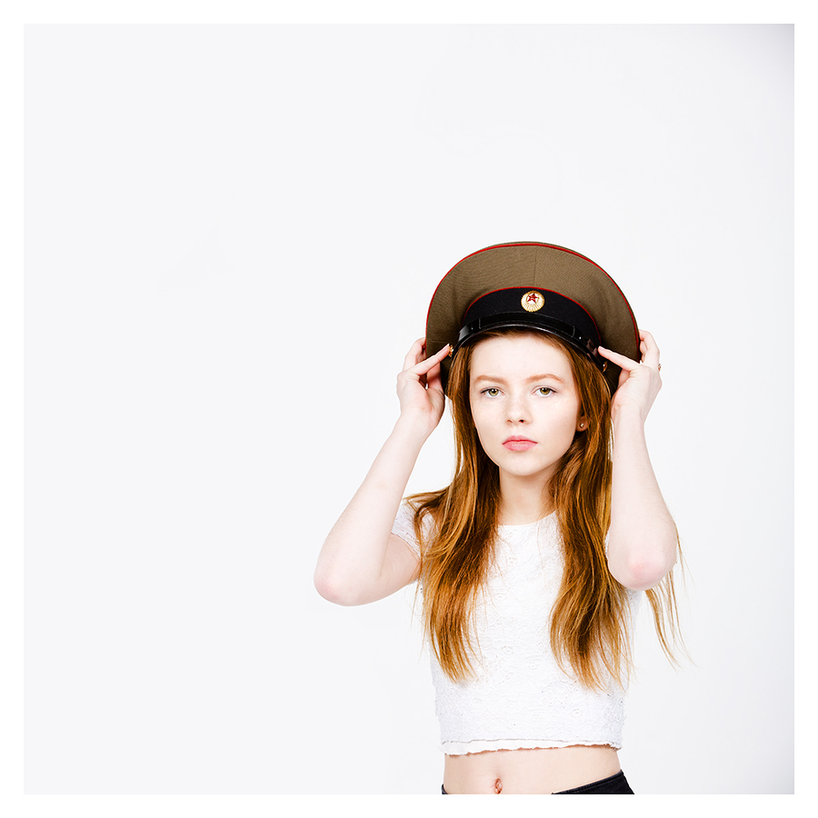 Red head red army hat / Photography by jakabi, Post processing by jakabi / Uploaded 6th March 2017 @ 09:29 PM