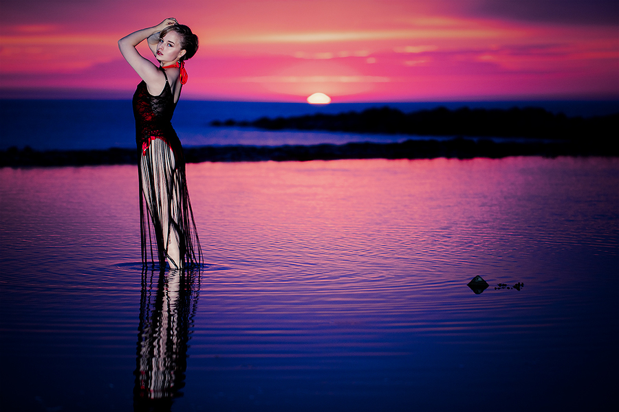 Sunset with Delicieux (2) / Photography by jakabi, Model Delicieux, Post processing by jakabi / Uploaded 20th July 2017 @ 11:08 PM
