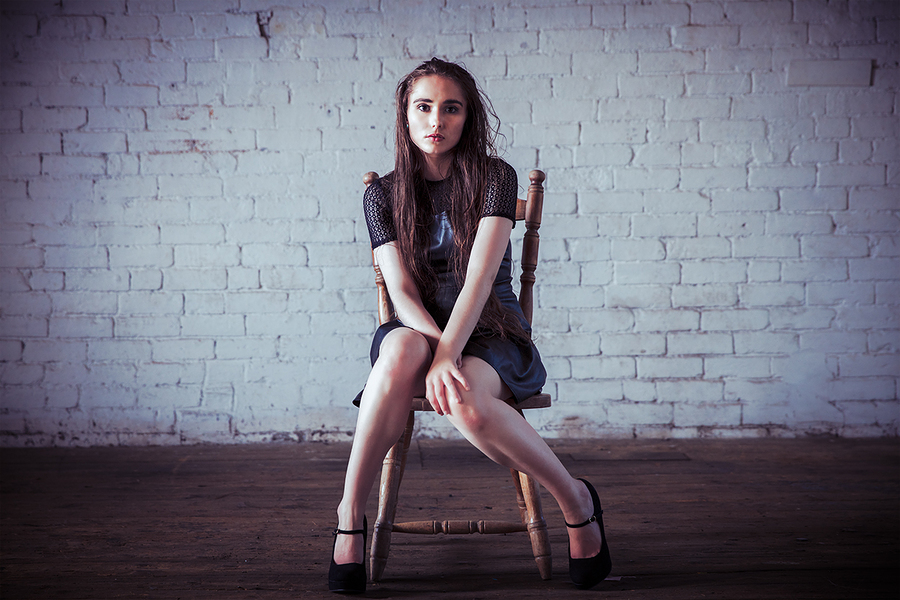 Zara - leather dress on the chair / Photography by jakabi, Model Zara Valerie Lane, Post processing by jakabi, Taken at Image Red / Uploaded 4th September 2017 @ 09:58 PM