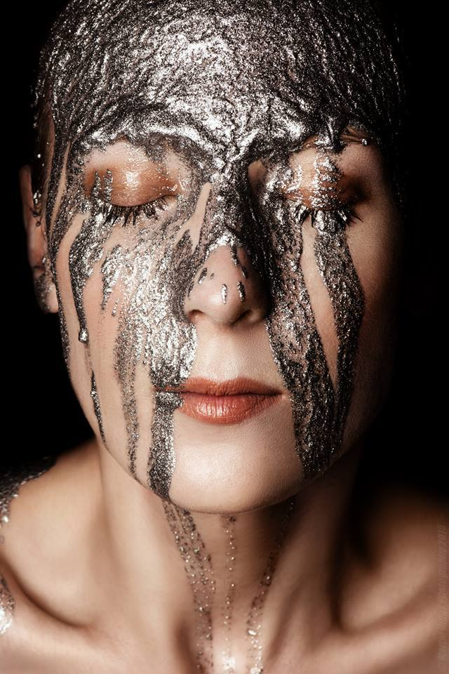 Silver paint / Photography by Martin Higgs, Makeup by Amy Prifti / Uploaded 10th August 2016 @ 05:58 PM