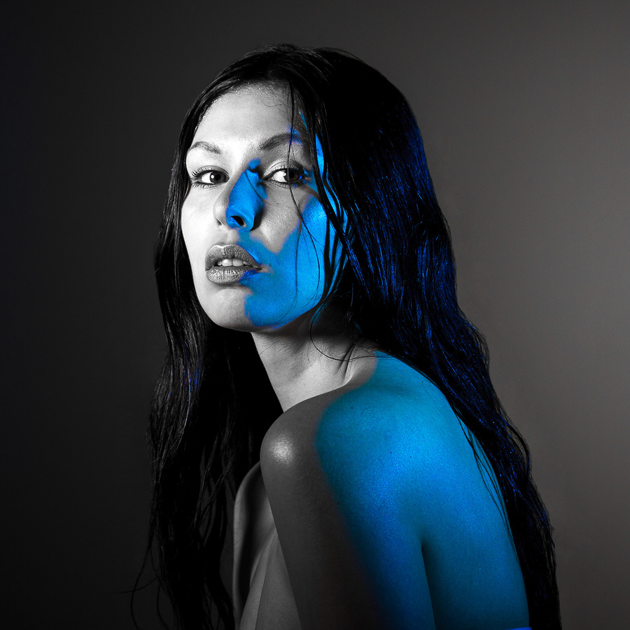 blue gel / Photography by David Long, Makeup by Amy Prifti, Post processing by David Long, Hair styling by Amy Prifti / Uploaded 2nd August 2017 @ 06:36 PM