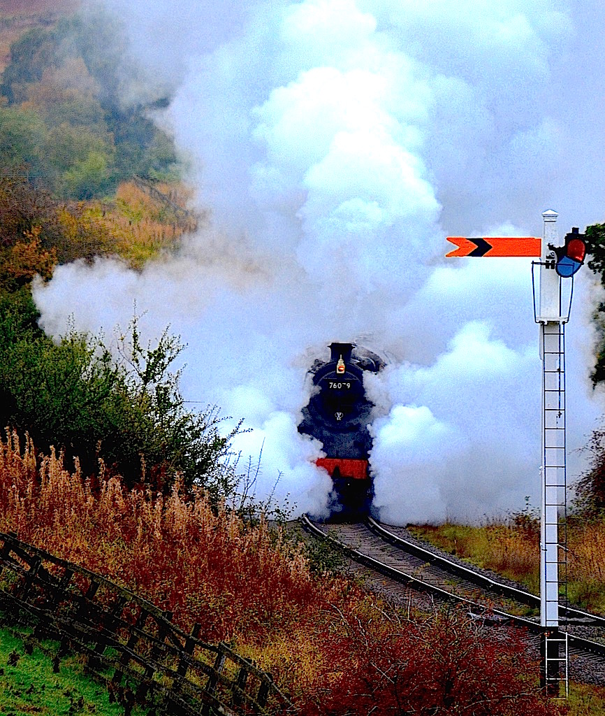 Loco 76079 North Yorkshire Moors Railway War Weekend 2015. / Photography by John Cater & Pam Lowe / Uploaded 4th November 2015 @ 09:11 AM