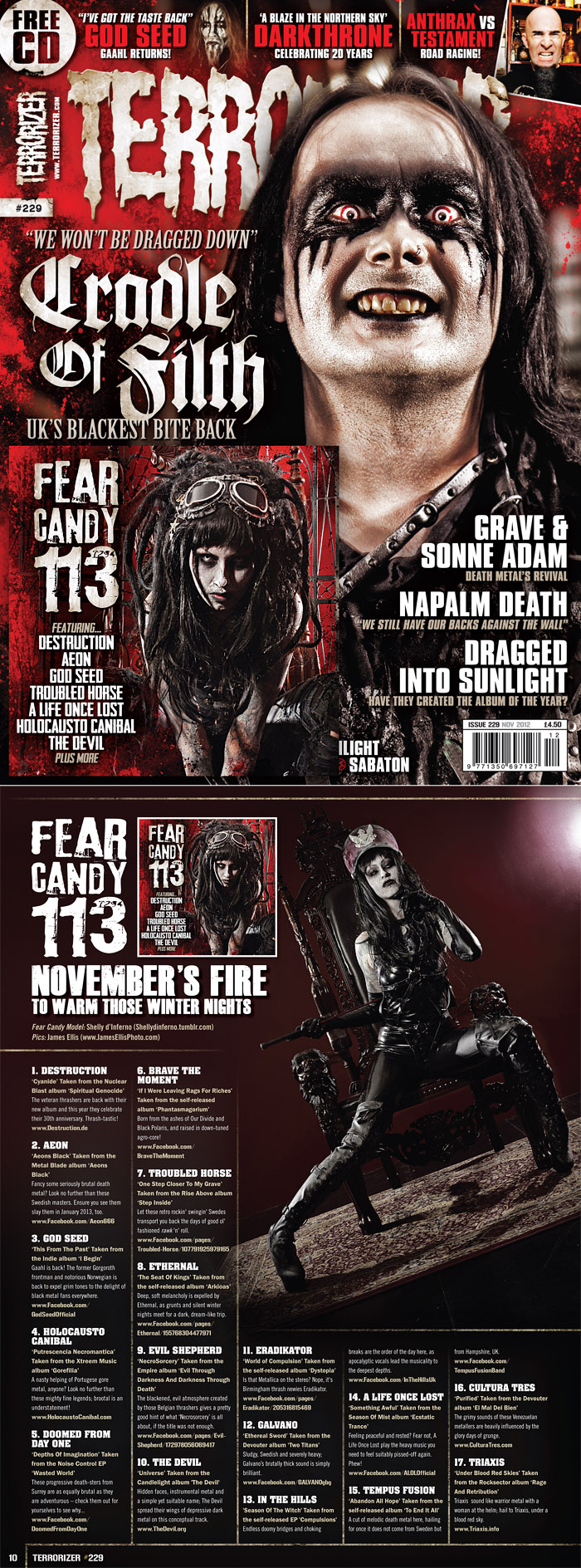 Terrorizer feature / Model Shelly d'Inferno / Uploaded 27th February 2014 @ 09:28 PM