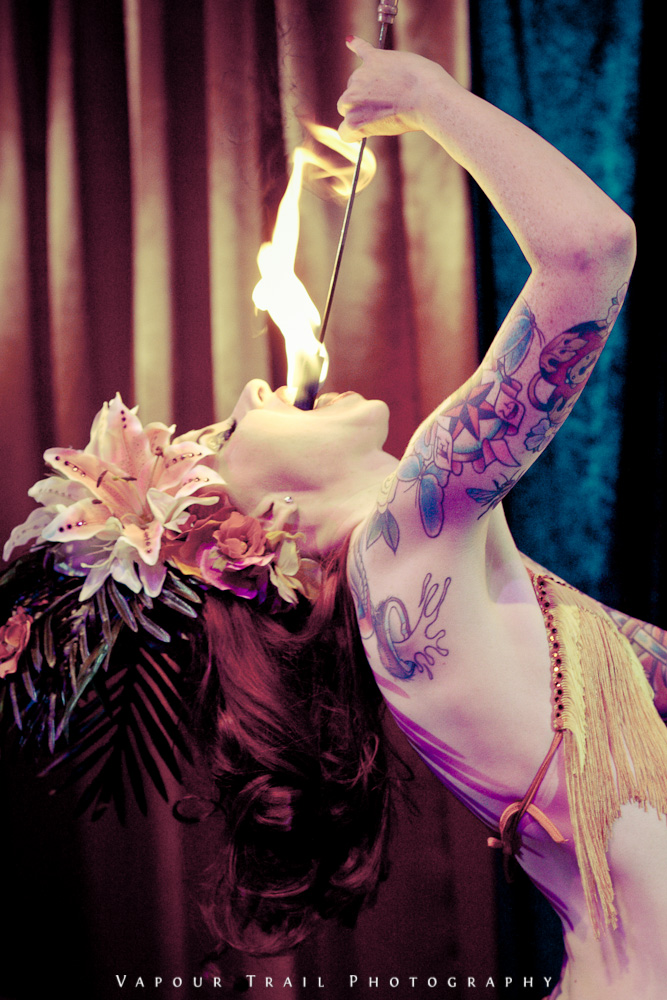 Scarlett eating fire / Photography by Vapour Trail Photography / Uploaded 11th September 2013 @ 11:03 AM