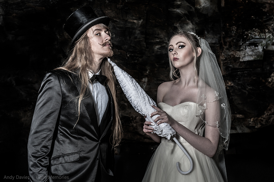 Goth Bride & Groom - The Umbrella! / Photography by Andy Davies LRPS / Uploaded 3rd July 2016 @ 02:40 PM