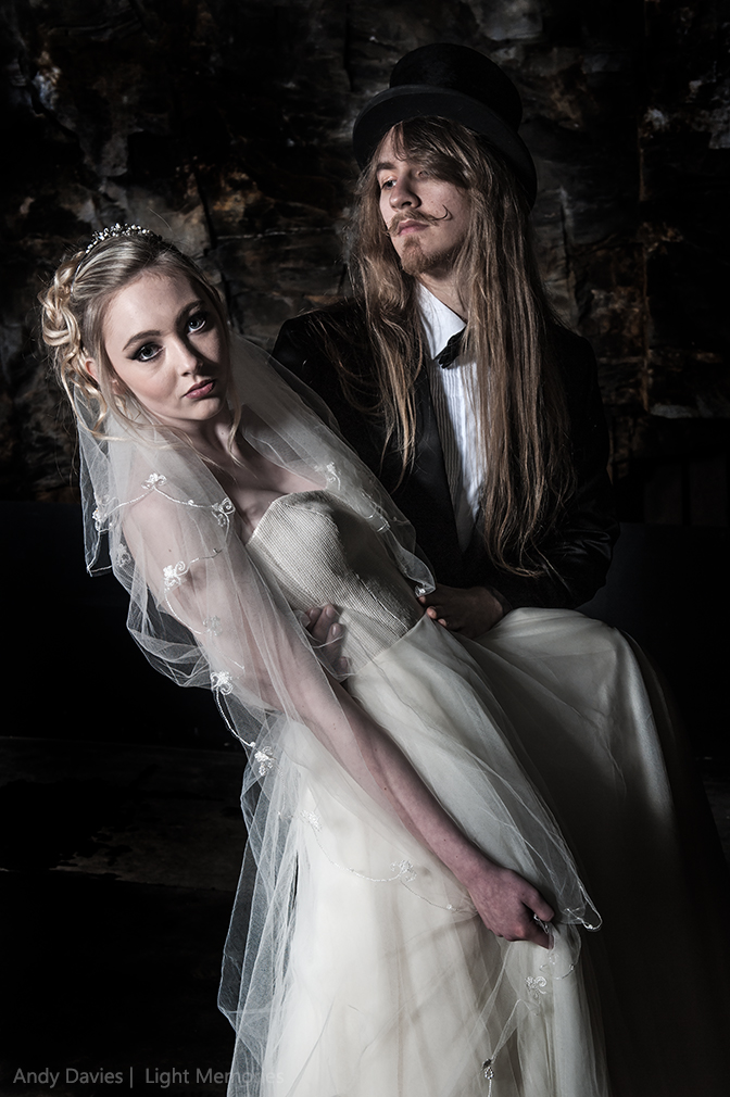 Goth Bride & Groom - The Look / Photography by Andy Davies LRPS / Uploaded 3rd July 2016 @ 02:41 PM