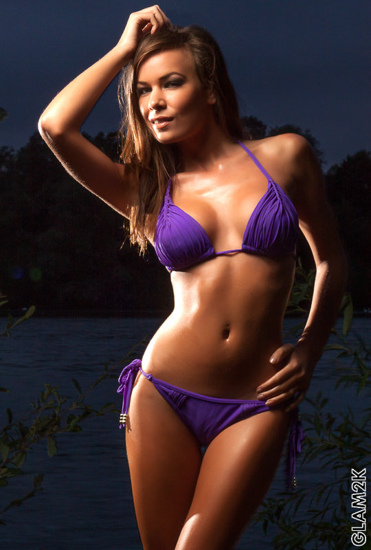 Kelly May in a purple bikini / Photography by Glam2K / Uploaded 21st September 2012 @ 09:00 PM
