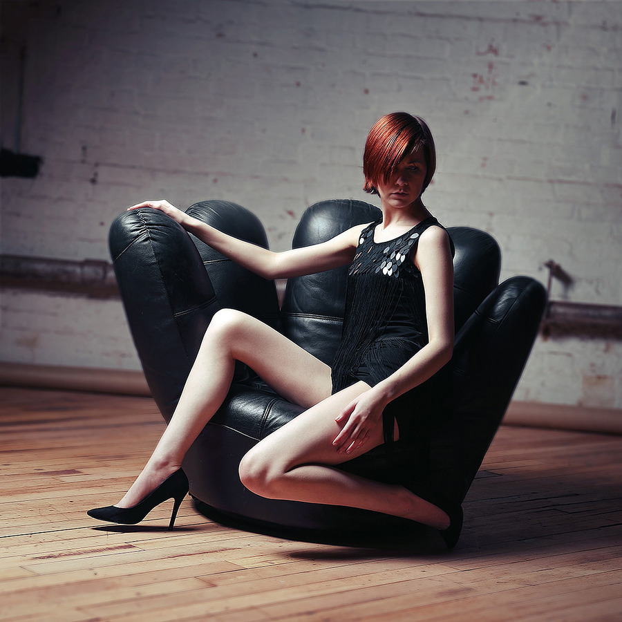 Atalanta - black chair / Photography by smrphotoart, Model Atalanta, Post processing by smrphotoart, Taken at Natural Light Spaces / Uploaded 12th April 2017 @ 09:06 PM