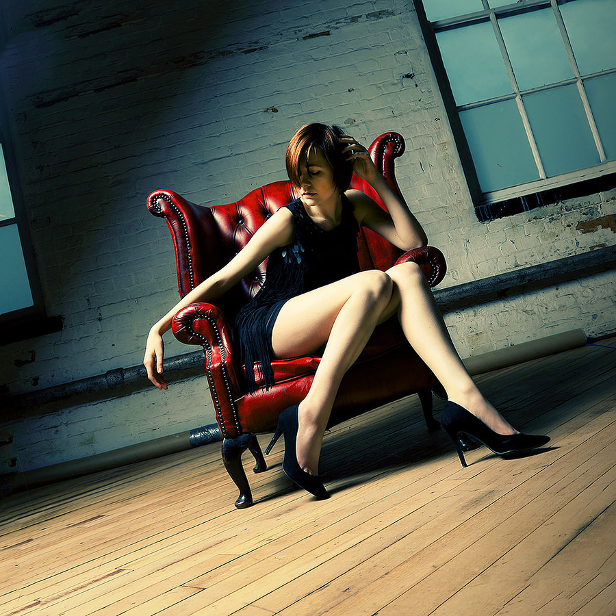 Atalanta - red chair / Photography by smrphotoart, Model Atalanta, Post processing by smrphotoart, Taken at Natural Light Spaces / Uploaded 12th April 2017 @ 09:10 PM