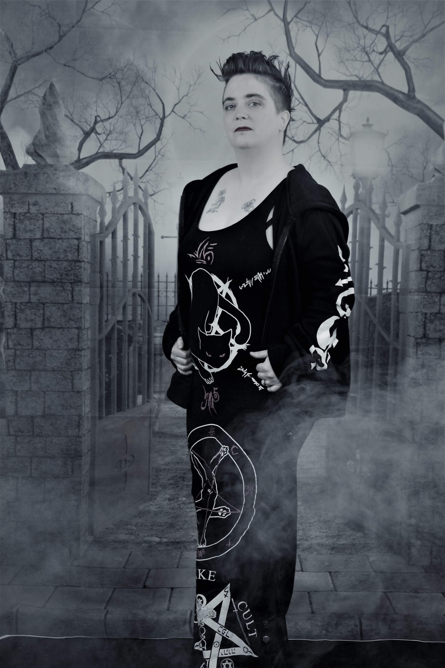 Goth Lady In The Mist / Photography by Raymond1, Model Anastasia Nyghtshade / Uploaded 22nd April 2018 @ 10:43 AM