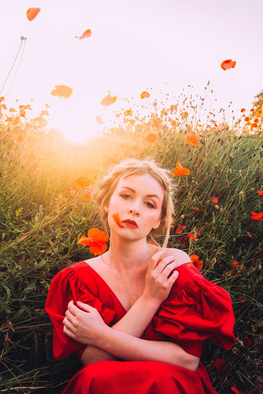 """""""Through the dancing poppies stole a breeze, most softly lulling to my soul."""" — John Keats / Photography by Thomas Oscar Miles, Model Miss Rosie Lea / Uploaded 31st July 2019 @ 07:48 PM"""