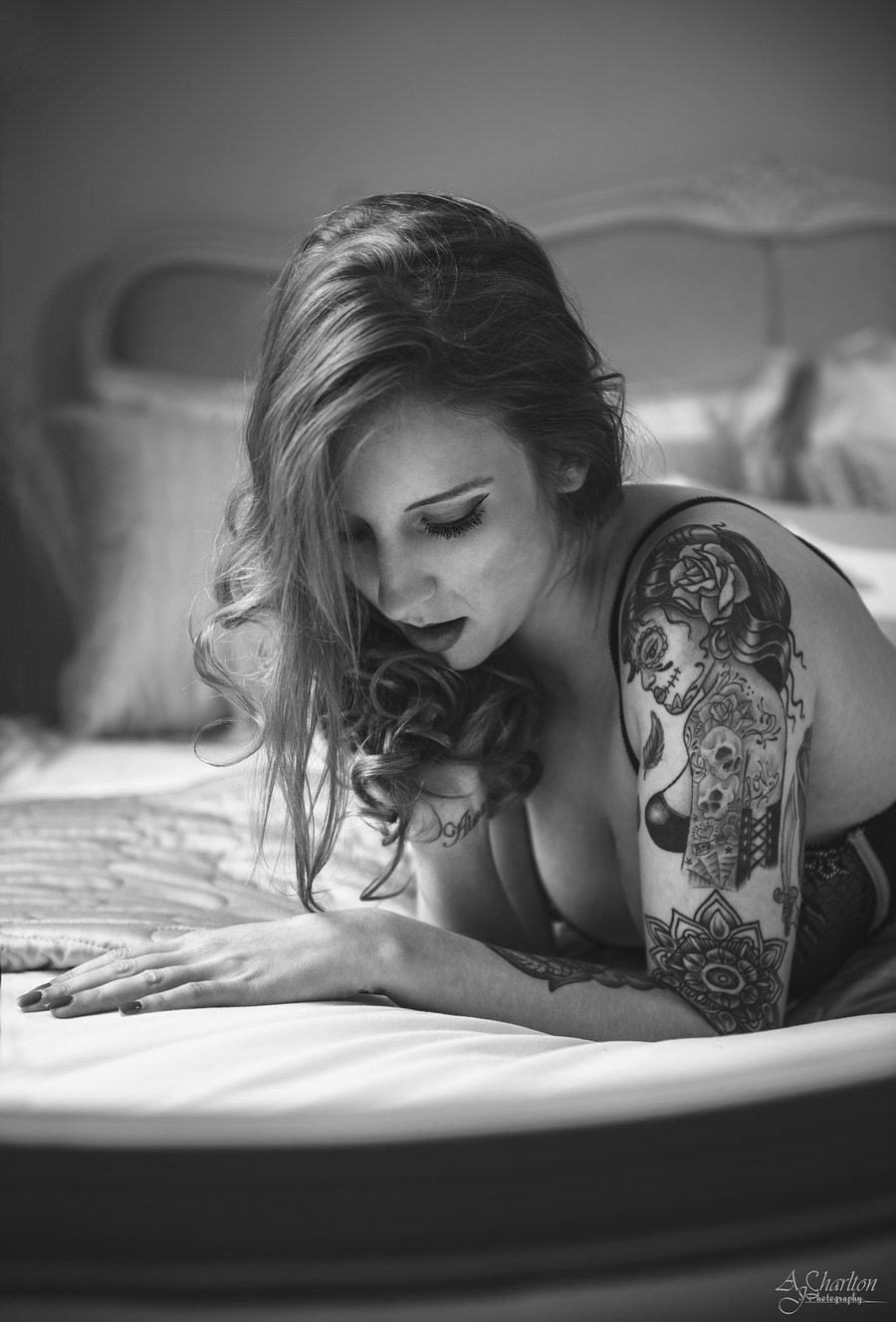 Red in B&W / Photography by AJ Charlton, Model Alexa Edwards / Uploaded 20th August 2016 @ 10:59 AM