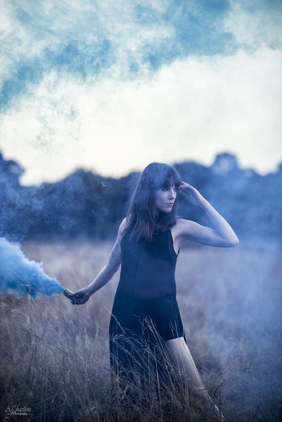 Blue Smoke In The Fields. / Photography by AJ Charlton / Uploaded 24th September 2016 @ 03:07 PM