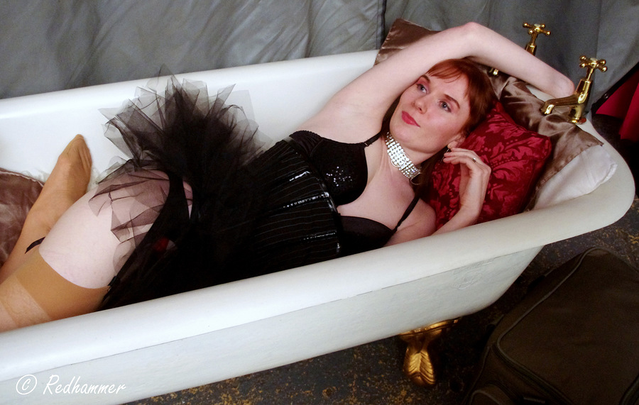 Lounging in the bath