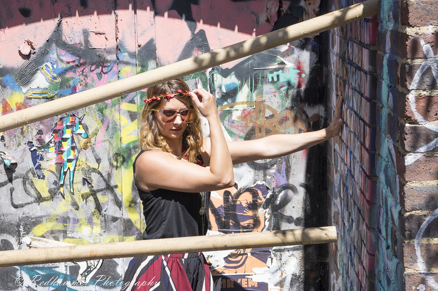 Graffiti hole / Photography by Redhammer, Model Risa / Uploaded 30th June 2018 @ 09:00 PM