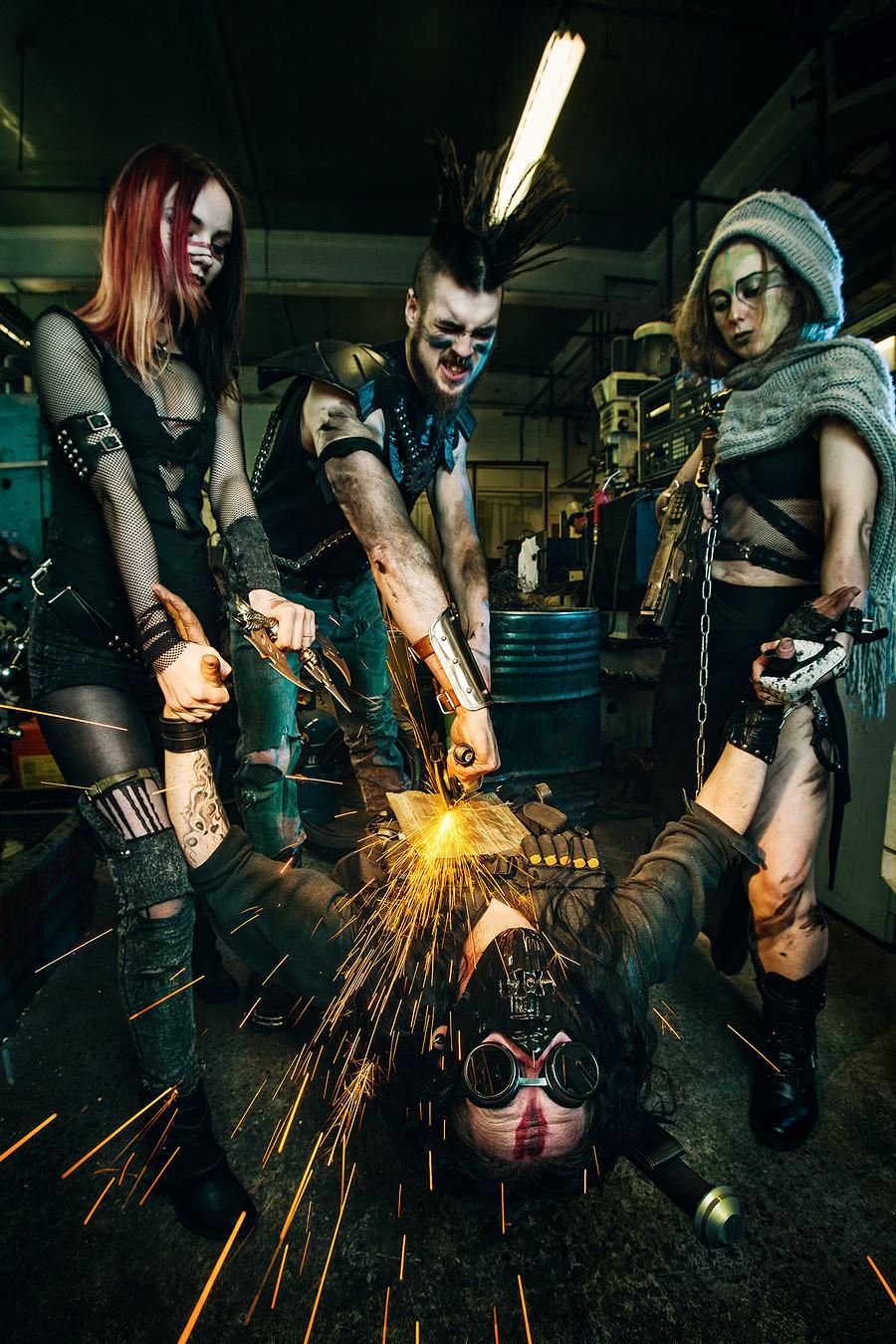 Post Apocalyptic Metal Mayhem / Photography by Richard Wakefield, Model KaosAdy, Post processing by Richard Wakefield, Stylist KaosAdy / Uploaded 19th April 2016 @ 01:33 PM