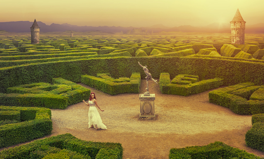 The Labyrinth / Photography by Richard Wakefield, Model Everly Rose, Post processing by Richard Wakefield / Uploaded 27th June 2016 @ 09:06 PM